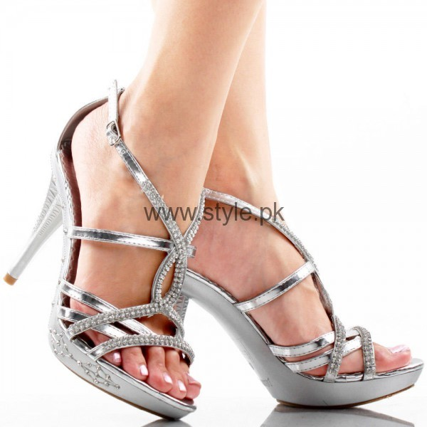 Latest Bridal Silver High Heels 2016  (8)