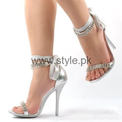 Latest Bridal Silver High Heels 2016  (9)