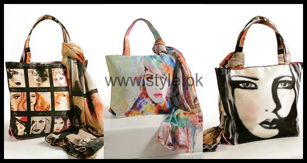 See Latest Digital Print Handbags 2016