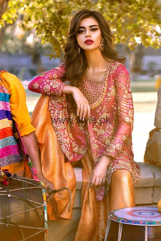 Latest Embroidered dresses 2016 for Newly Married girls (4)