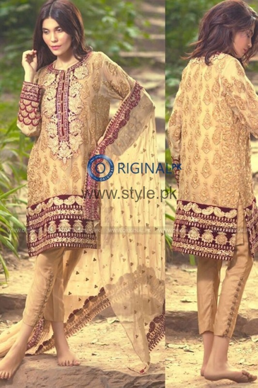 Latest Embroidered dresses 2016 for Newly Married girls (6)
