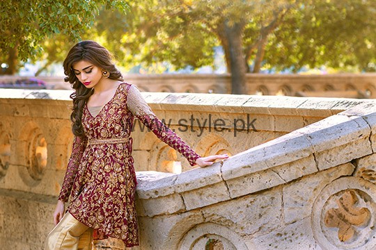 Latest Embroidered dresses 2016 for Newly Married girls (8)