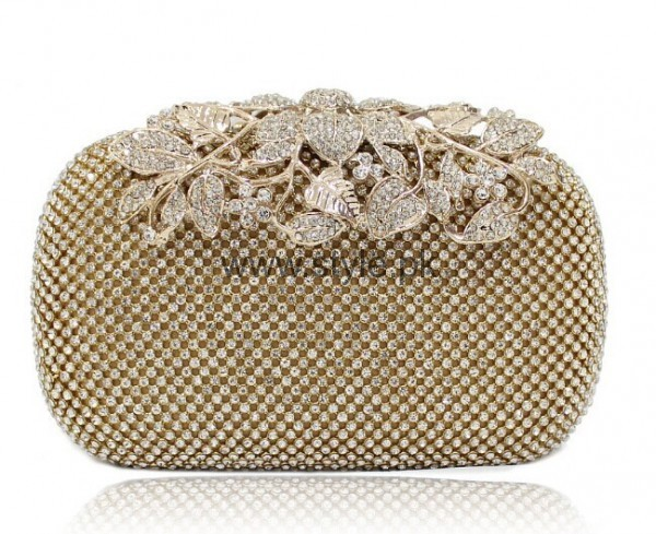 Latest Golden Bridal Clutches 2016 (12)