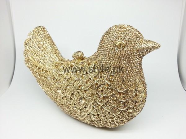 Latest Golden Bridal Clutches 2016 (4)