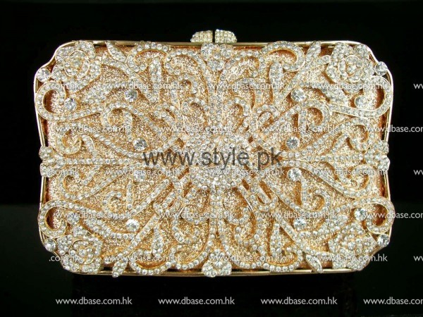 Latest Golden Bridal Clutches 2016 (5)