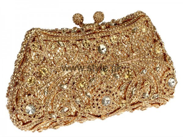 Latest Golden Bridal Clutches 2016 (6)