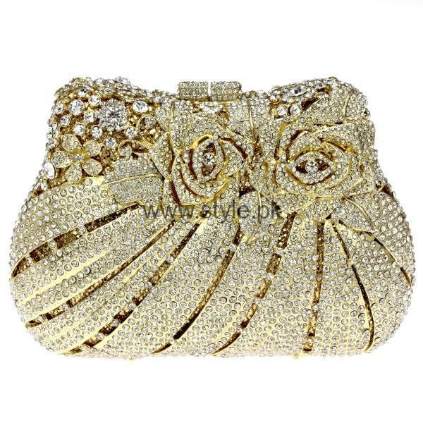 Latest Golden Bridal Clutches 2016 (7)