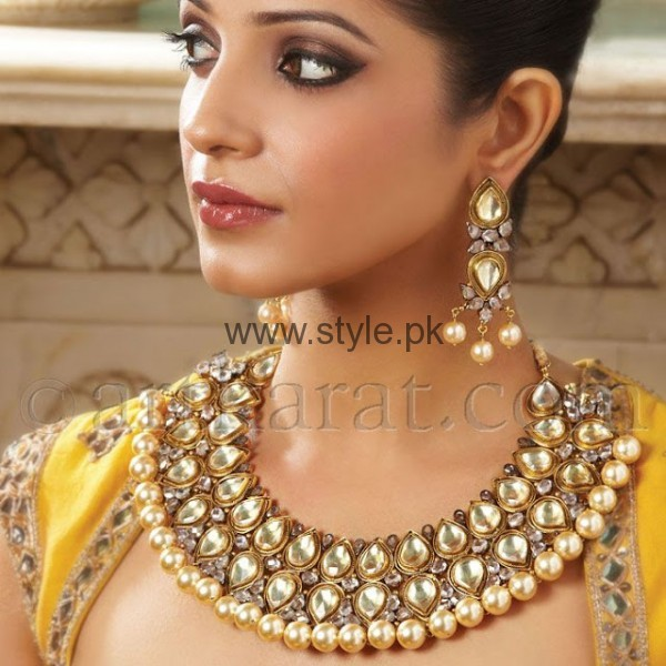 Latest kundan bridal jewellery 2016 for Indian jewelry queens ny