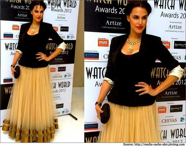 Neha Dhupia in net skirt