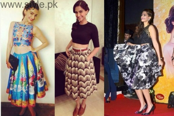 Sonam Kapoor in long skirt