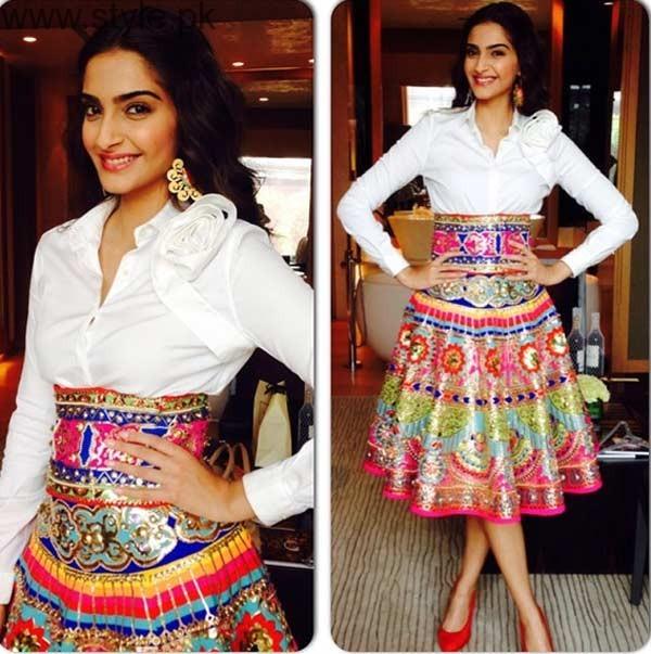 Sonam Kapoor Pakistani Skirts