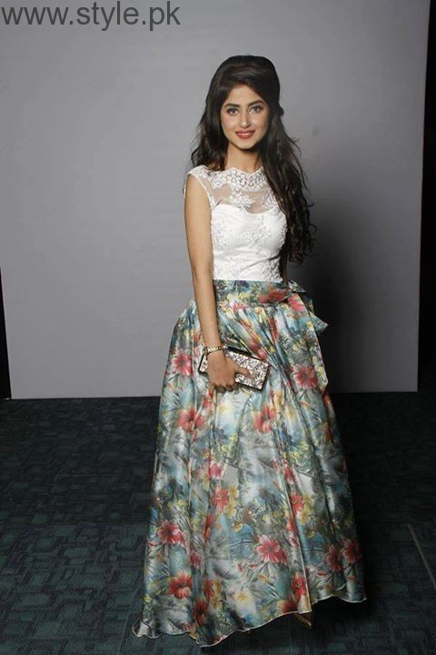 Sajal Ali in Pakistani Skirt