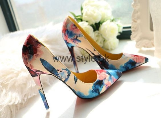 Latest Summers Floral Heels 2016 (10)