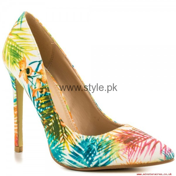 Latest Summers Floral Heels 2016 (15)