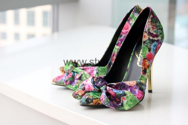 Latest Summers Floral Heels 2016 (17)