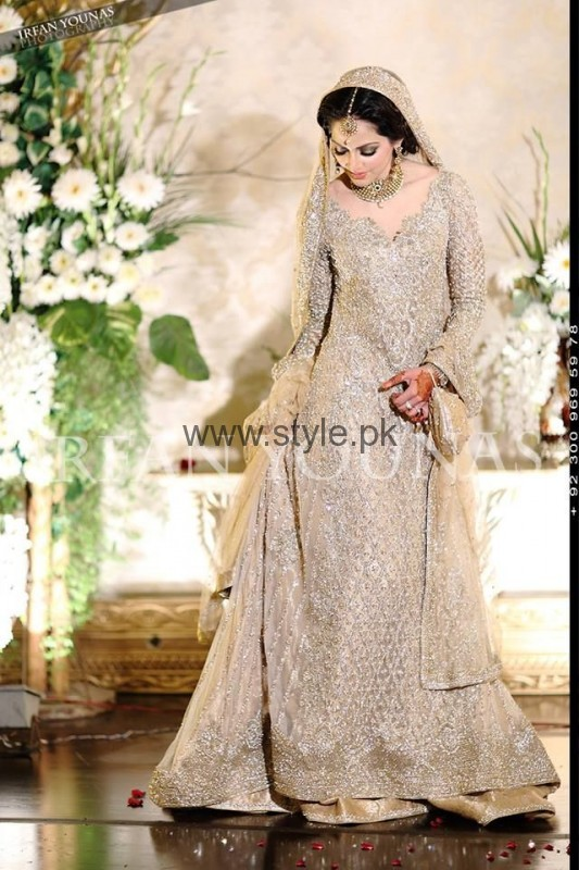 Silver Latest Walima Dress