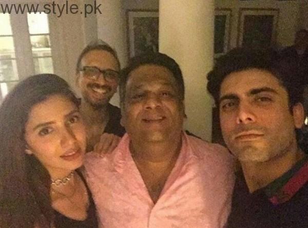 Mahira Khan and Fawad Khan At Asim Raza Birthday