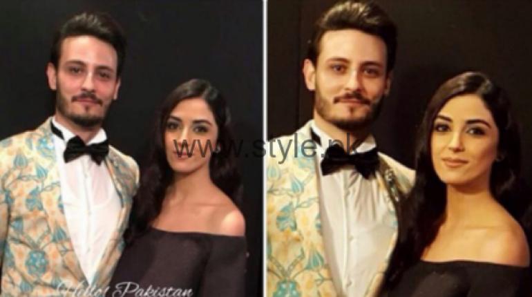 Maya Ali and Osman Khalid Butt Lux Awards