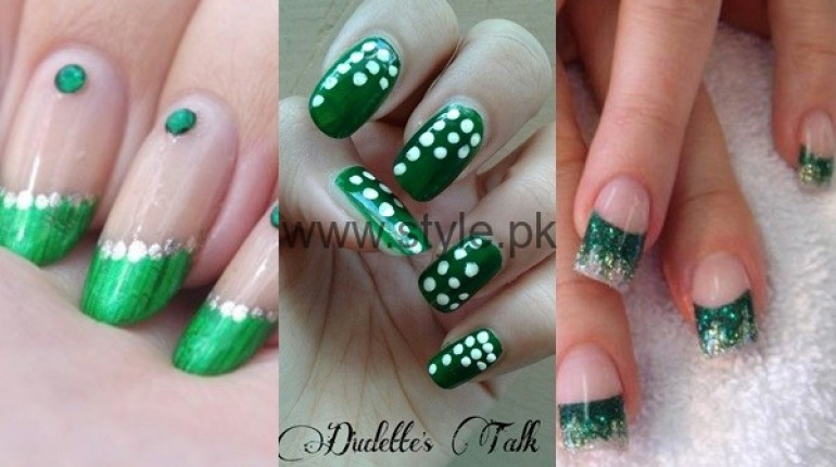 See Nail Art Ideas 2016 for Pakistan's Independence Day