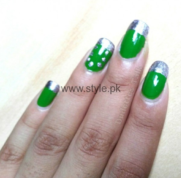 Nail Art Ideas 2016 for Pakistan's Independence Day (10)