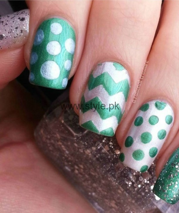 Nail Art Ideas 2016 for Pakistan's Independence Day (3)