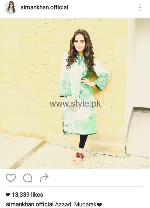 Pakistani Celebrities on Independence Day 2016 (10)