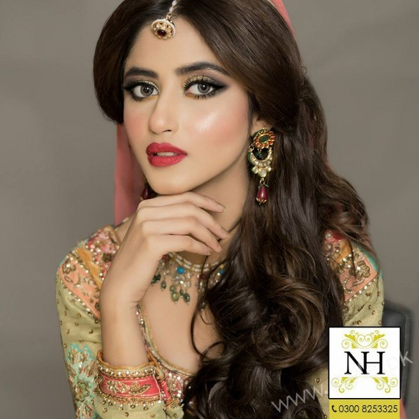Sajal Ali Bridal Makeup Looks