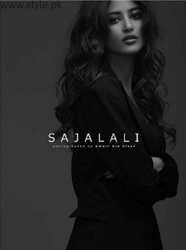 Sajal Ali In Black Dress