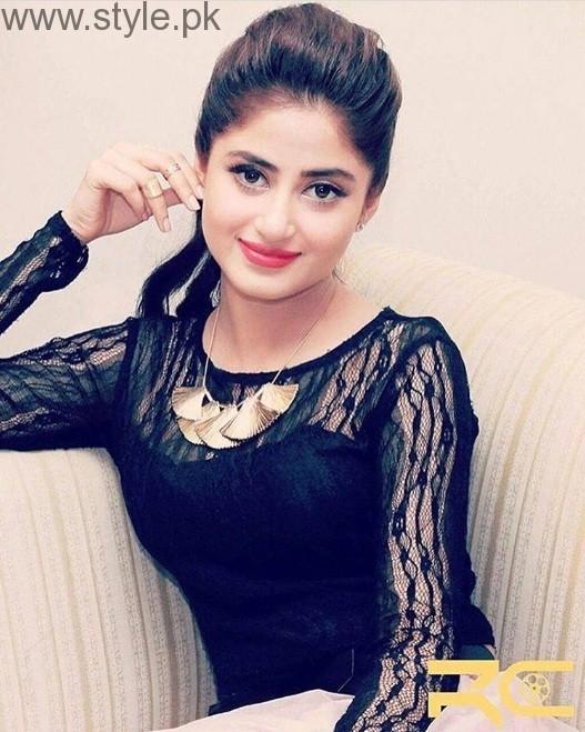 Sajal Ali In Black