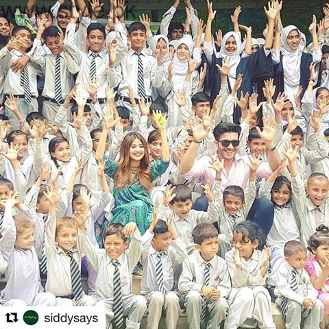 Sajal Ali and Feroze Khan spent time with Special Children  (1)