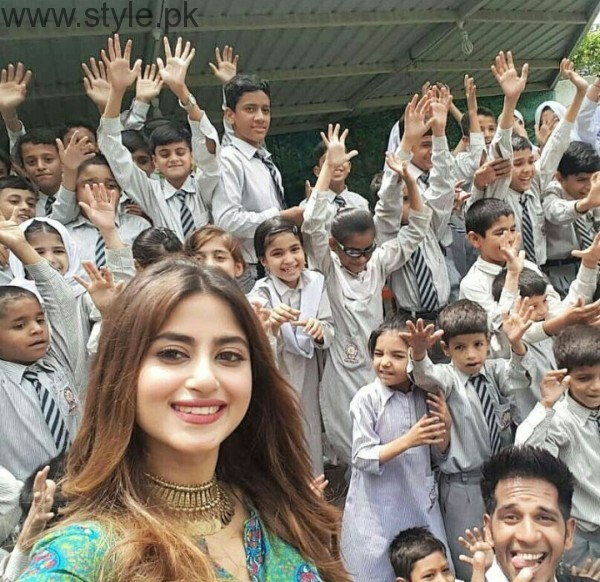 See Sajal Ali and Feroze Khan spent time with Special Children