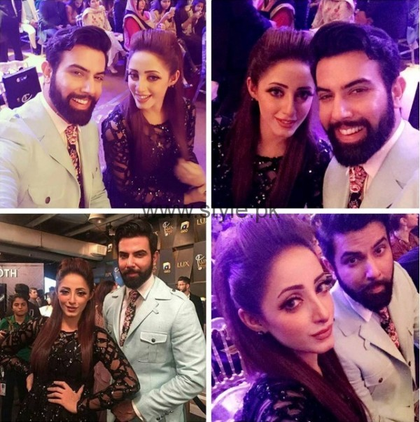 Lovebirds Sanam Chaudhry and Noor Hassan At LSA - Style Pk