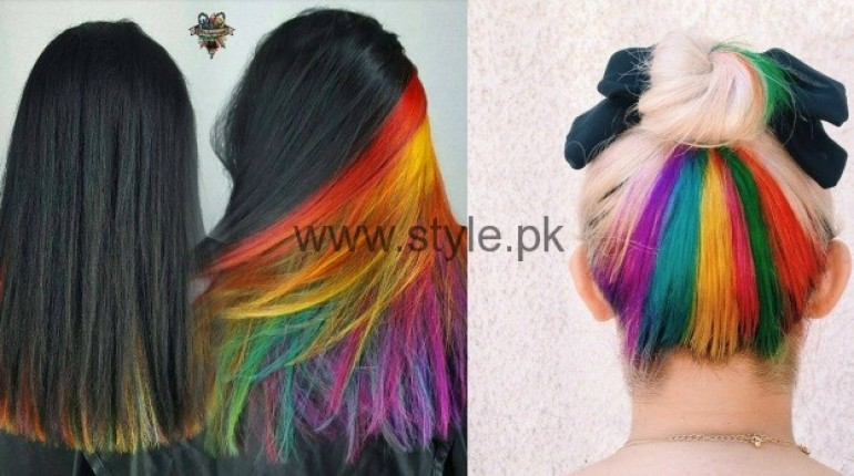 Surprise Hair Colors Secret Rainbow Underneath Hair