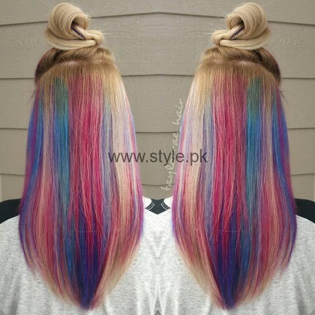 Surprise colored hair   Porno foto)