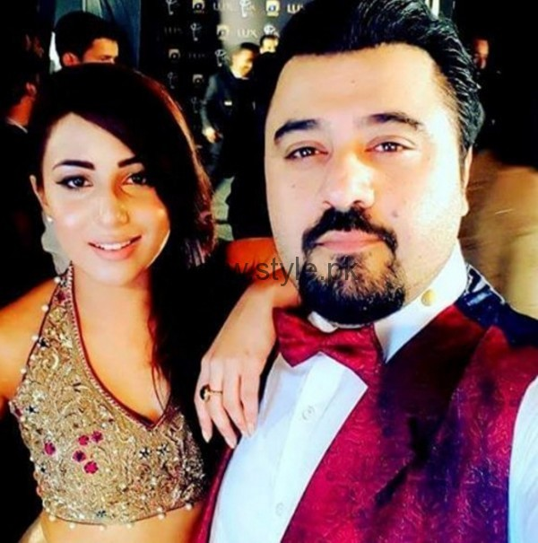 Ushna Shah and Ahmed Ali Butt at Lux Style Awards
