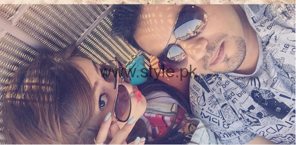 See Zarnish Khan with her Husband