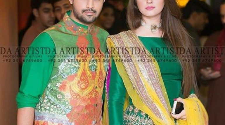 Recent Picture Of Atif Aslam With His Wife Style Pk