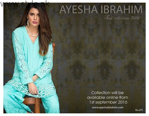 Ayesha Ibrahim Eid Ul Azha Dresses 2016 For Women