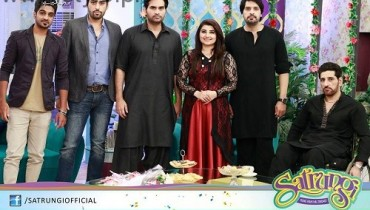 See Humayun Saeed with his brothers