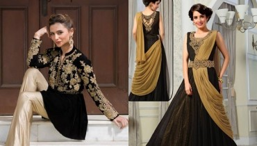 See Latest Black Eid Dresses 2016