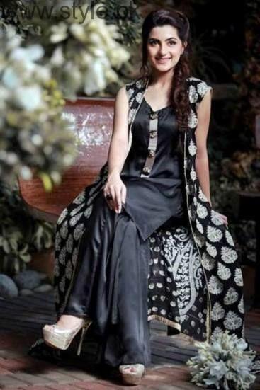 Latest Black Eid Dresses 2016 (4)