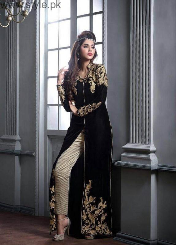 5957c3657 Latest Black Eid Dresses 2016 - Style.Pk