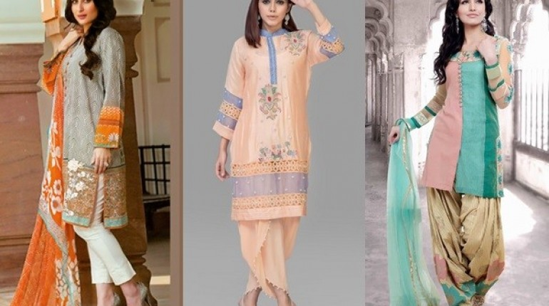 SeeLatest Pakistani Eid Dresses 2016