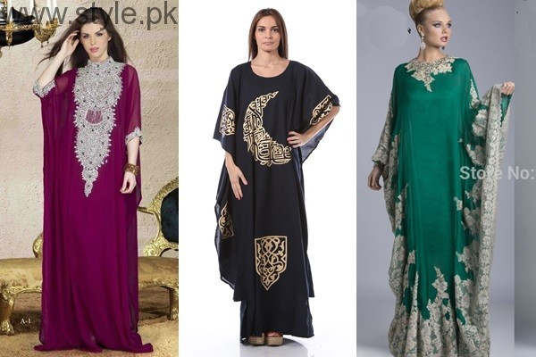 See Latest Pakistani Kaftan Dresses