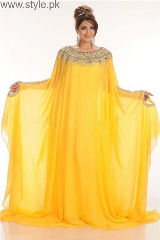 Fashion 2017 dress in pakistan summer - Latest Pakistani Kaftan Dresses 2017 For Girls