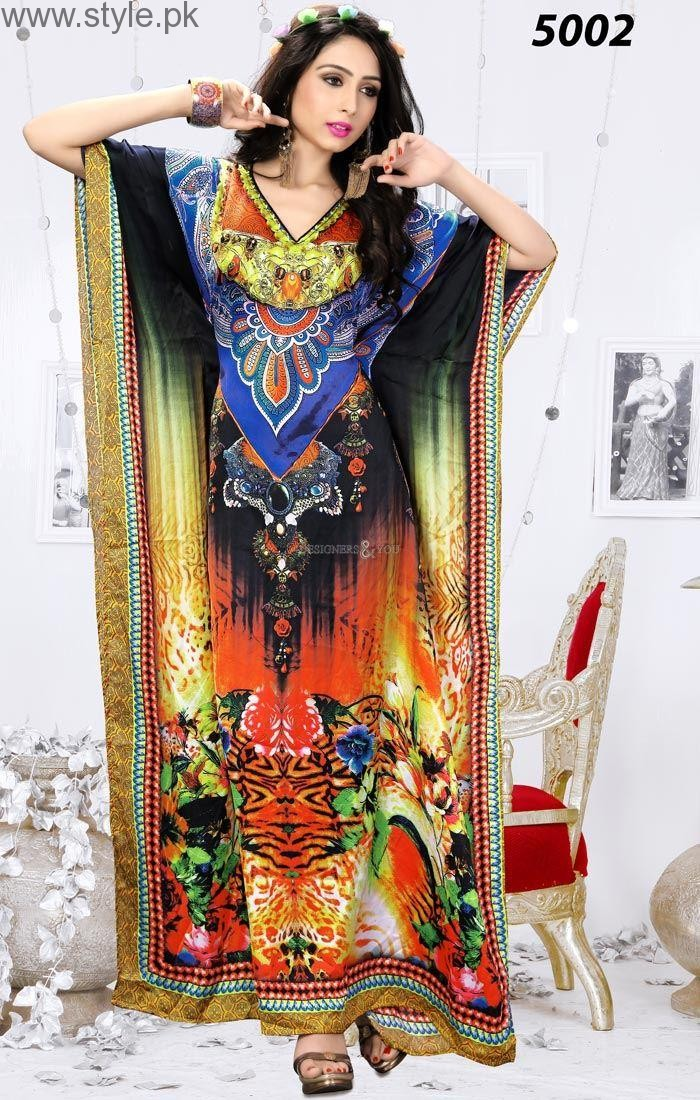 Latest Pakistani Kaftan Dresses 2016 14