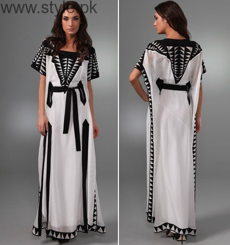 Latest Pakistani Kaftan Dresses 2017 For Girls Style Pk