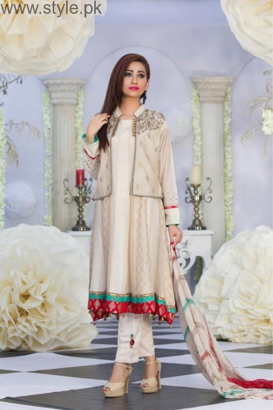 latest pakistani white party wear dresses 2016