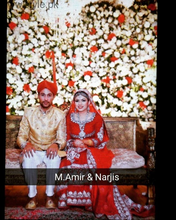 muhammad amir baraat photoshoot with wife narjis