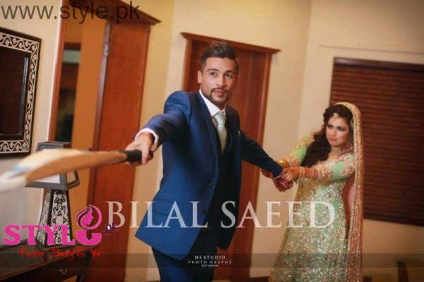 mohammad amir walima pictures